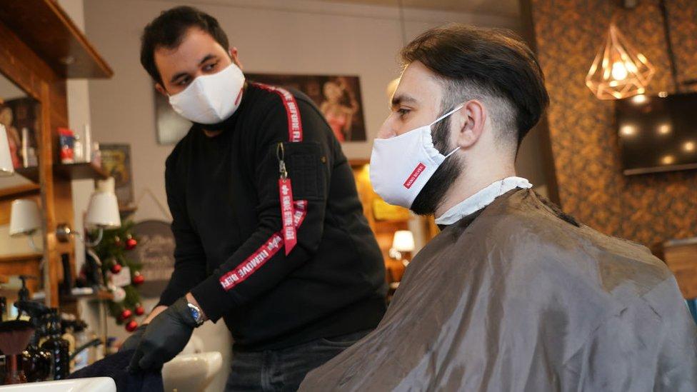 Una barbería en Alemania