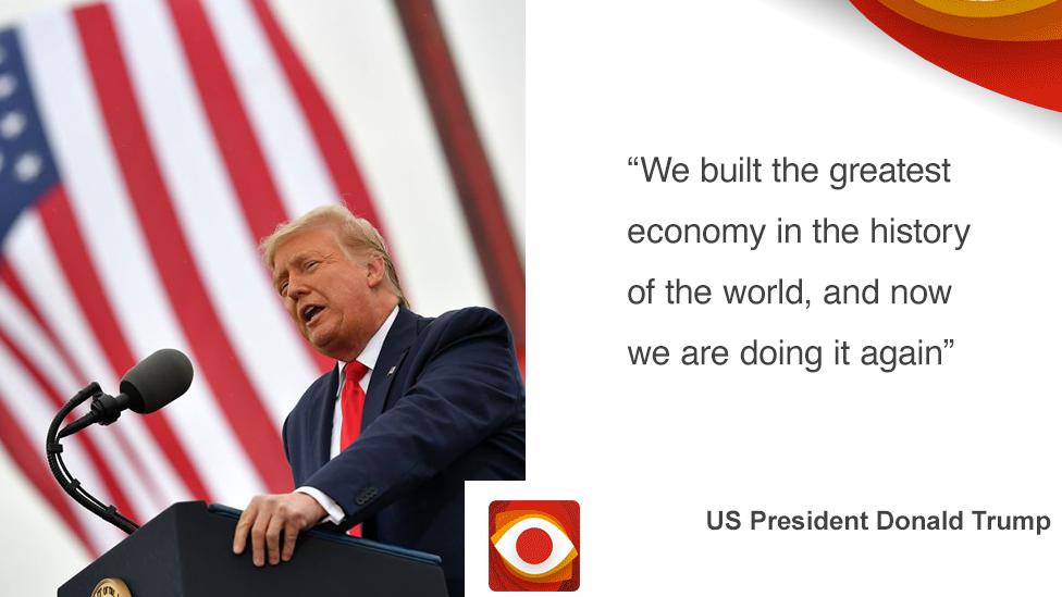 Trump quote card
