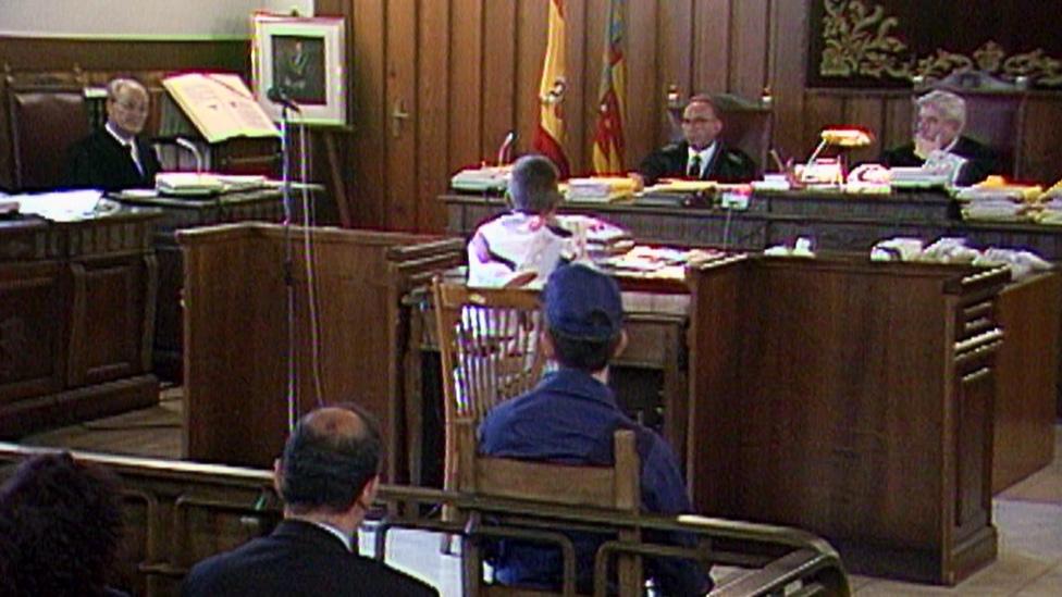 Imagen del juicio a Miquel Ricart, condenado por la muerte de las niñas de Alcàsser