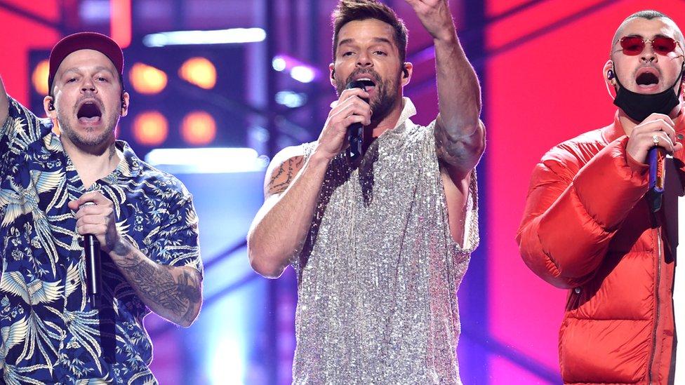 Residente, Ricky Martin y Bad Bunny en los Latin Grammy 2019