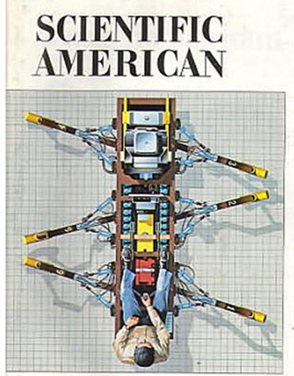 """Otro de los inventos del prolífico Sutheland: """"La cucaracha troyana"""", vista aquí en la revista Scientific American, en enero de 1983."""