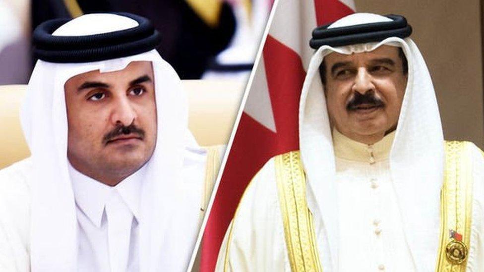 أمير قطر وملك البحرين