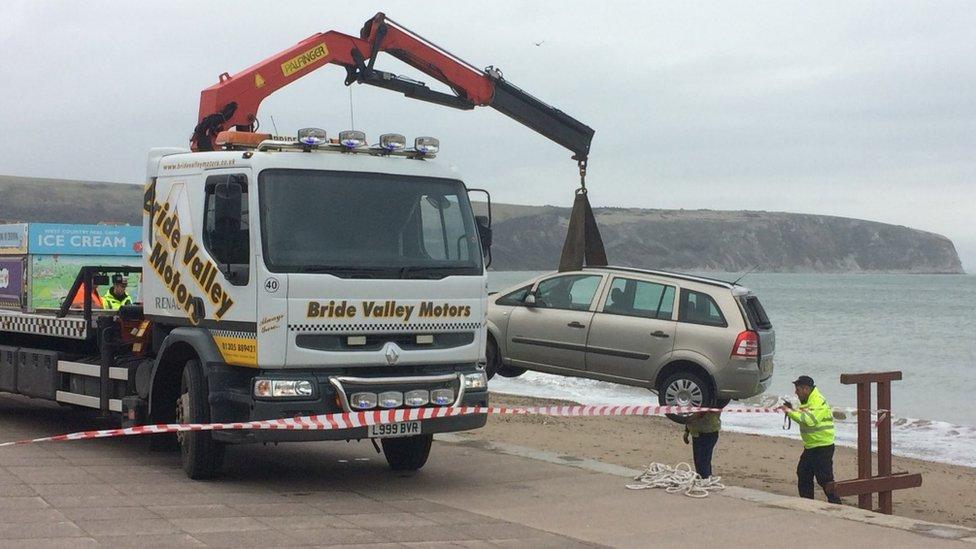 Swanage car fall driver admits killing man