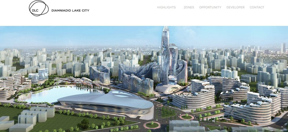 A screengrab of the Semer Investment website showing the city