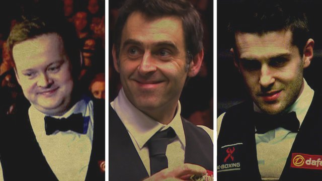 Shaun Murphy, Ronnie O'Sullivan and Mark Selby