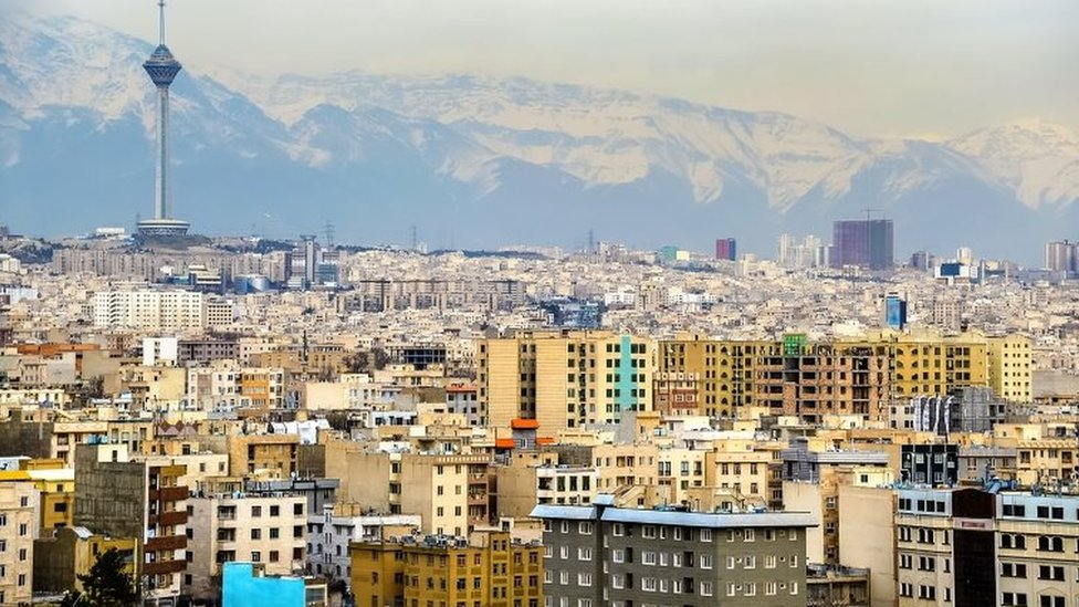 A view of Tehran from the Azadi Tower