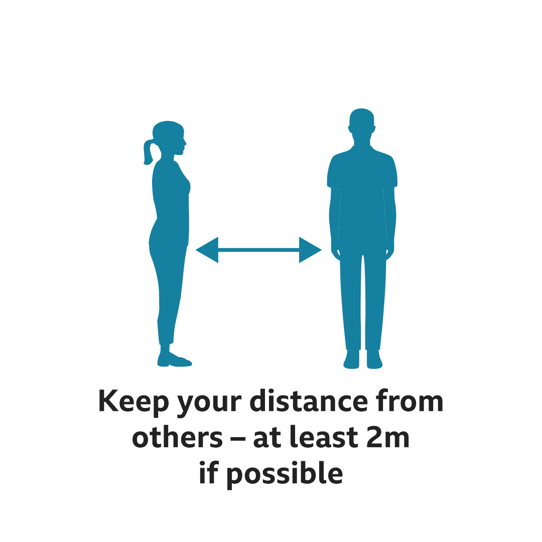 Keep your distance from others - at least 2m if possible
