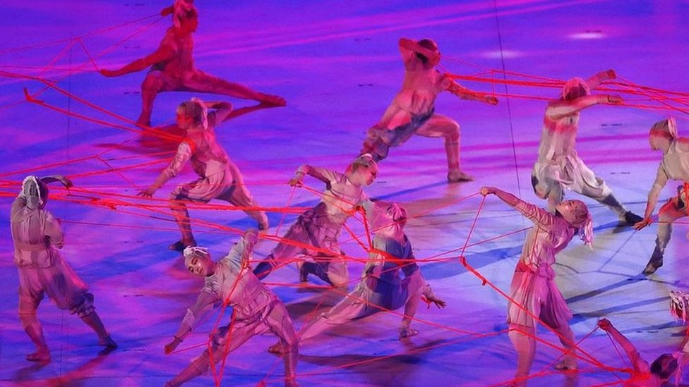 Dancers at the opening ceremony
