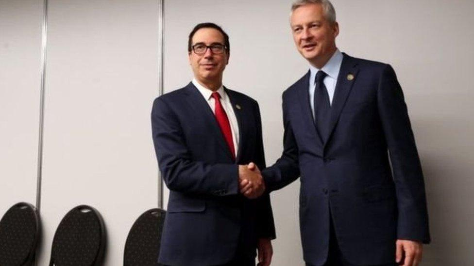 وزير المالية الفرنسي ووزير الخزانة الأمريكي، ستيف منوتشين