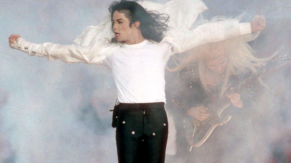 Michael Jackson en una actuación