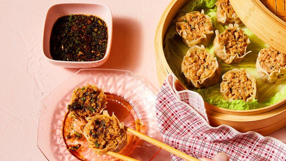 Plant-based pork dim sum