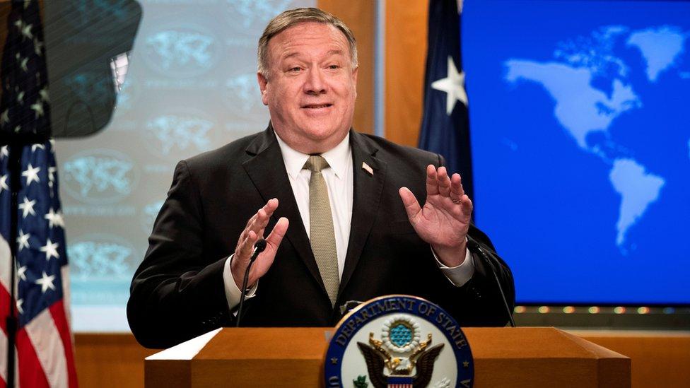 美國國務卿說,北京繞過香港立法會實施《國安法》破壞香港的自治。將暫停給予香港貿優惠。