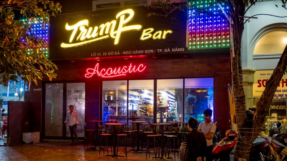 A Trump-themed bar in Vietnam