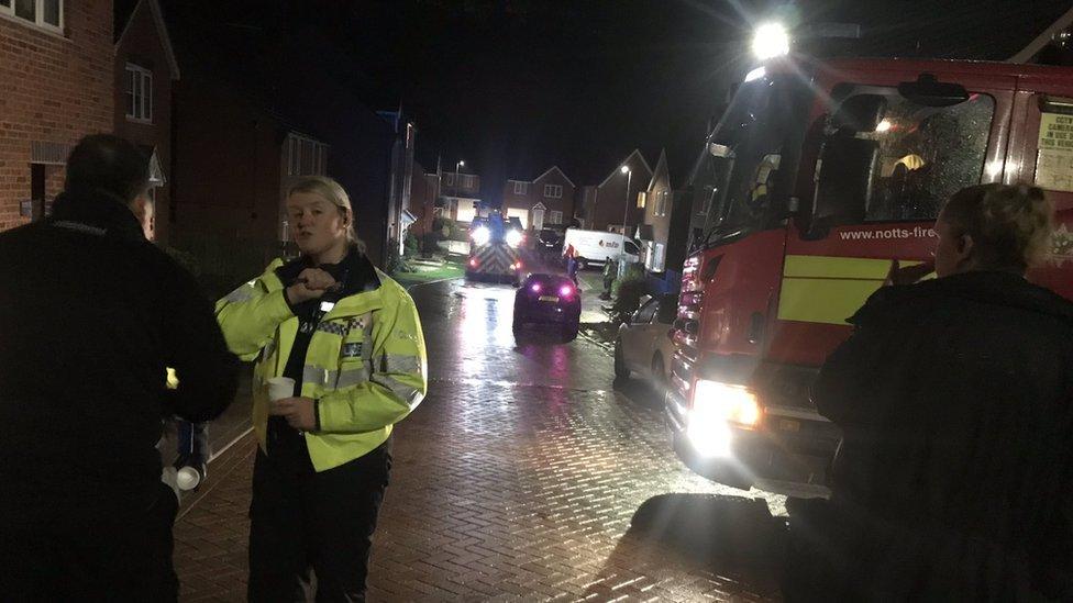 Police at Bank End Close