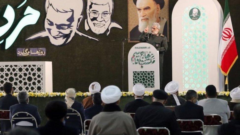 قائد الحرس الثوري يتحدث في ذكرى قاسم سليماني