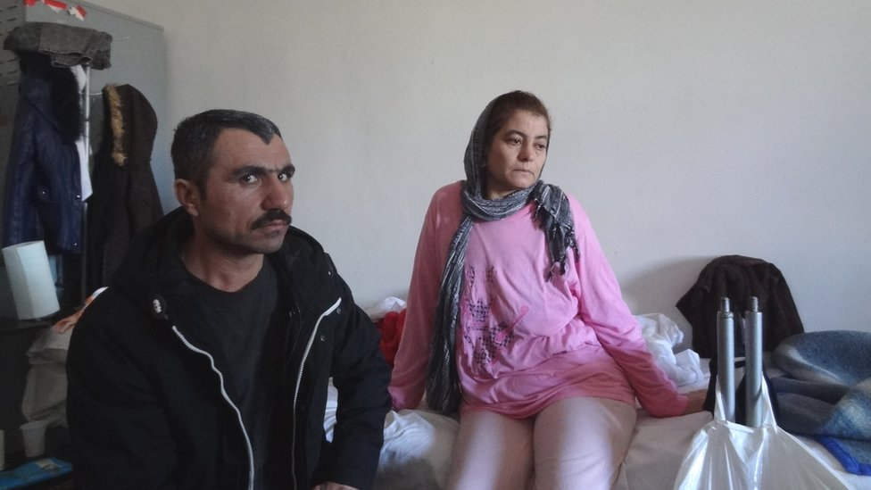 Murat (L) and Khose were sent back to Timisoara after the crash but have since reached Germany