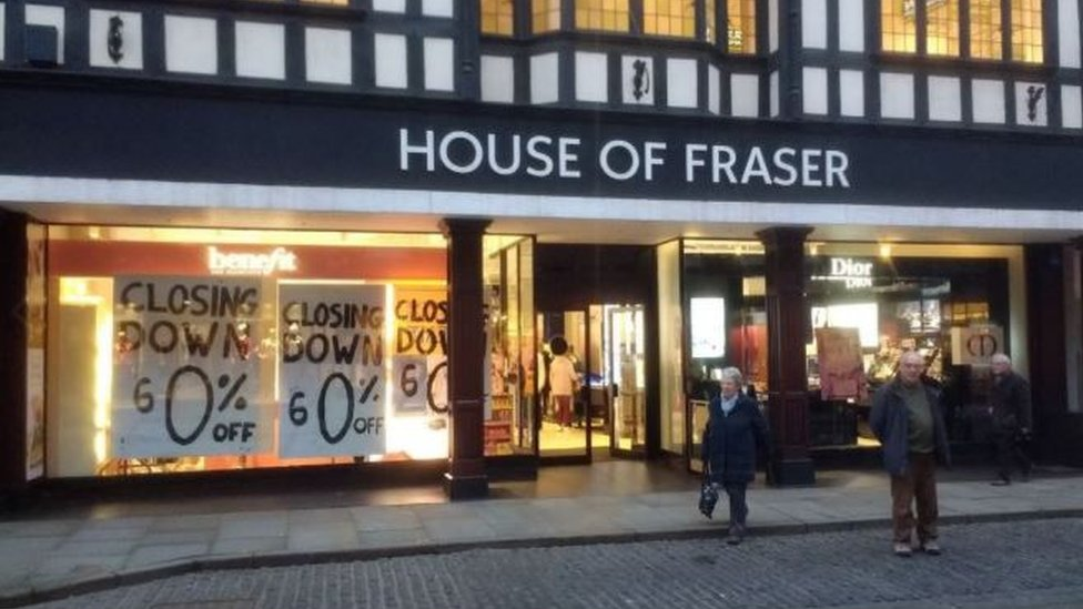 House of Fraser store closes in Shrewsbury