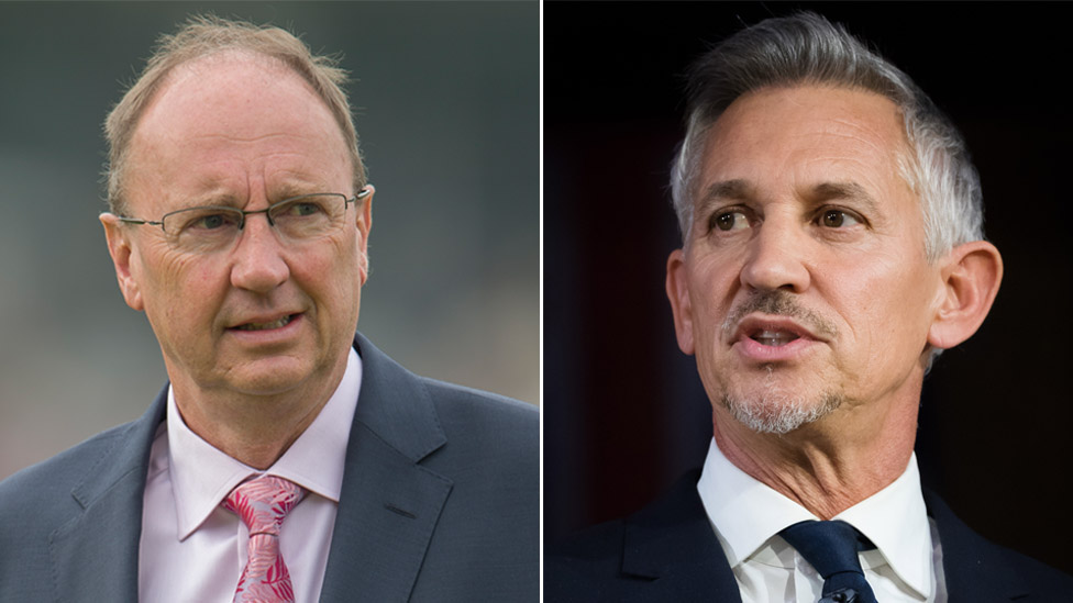 Jonathan Agnew to Gary Lineker: 'Keep your political views private'