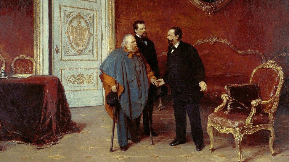 Garibaldi y Víctor Manuel II