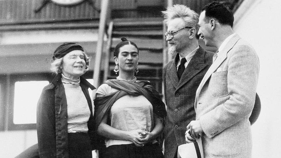 Trotsky y frida kahlo