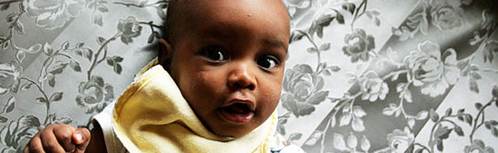 A baby with HIV in an orphanage in Kenya