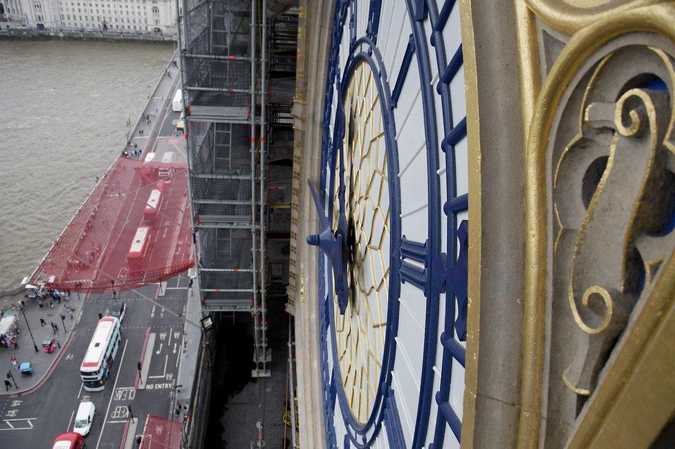Big Ben clock face