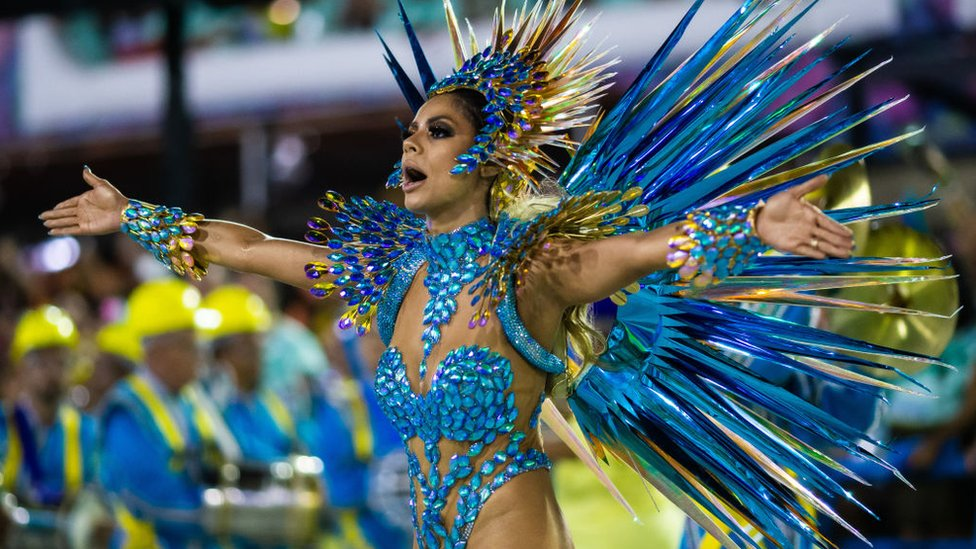 A dancer at Rio Carnival