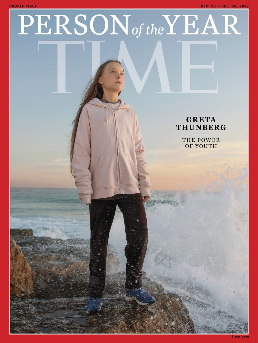 Time magazine cover with Greta Thunberg