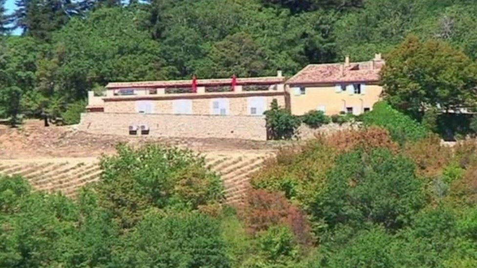 The duchess was staying at this chateau in Provence owned by Viscount David Linley, the nephew of the Queen