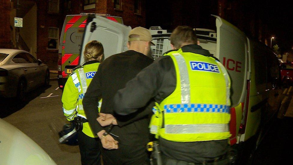 Arrest under way, Barrow