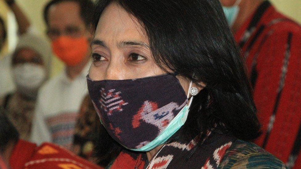 La ministra de Empoderamiento de la Mujer, Bintang Puspayoga,