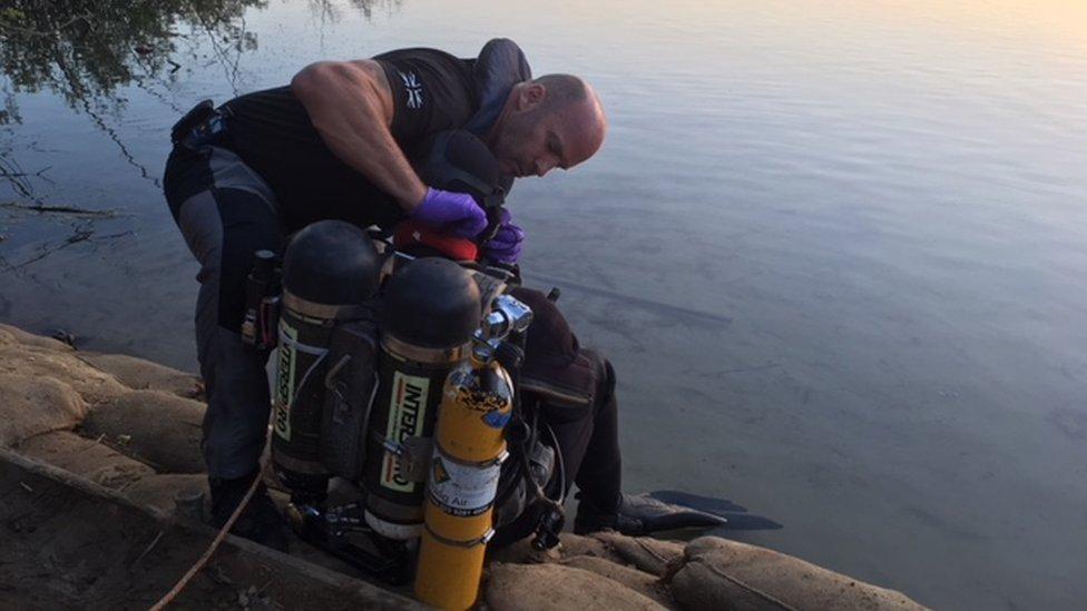 Mercer's Lake diver