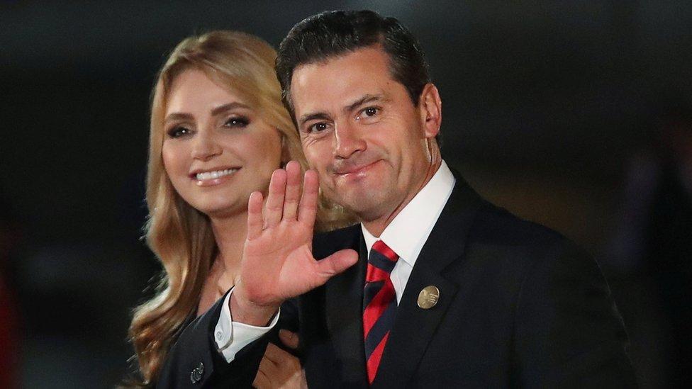 El presidente Enrique Peña Nieto y su mujer, Angélica Rivera