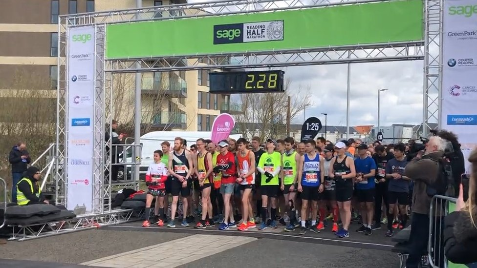 Thousands of runners compete in Reading half marathon