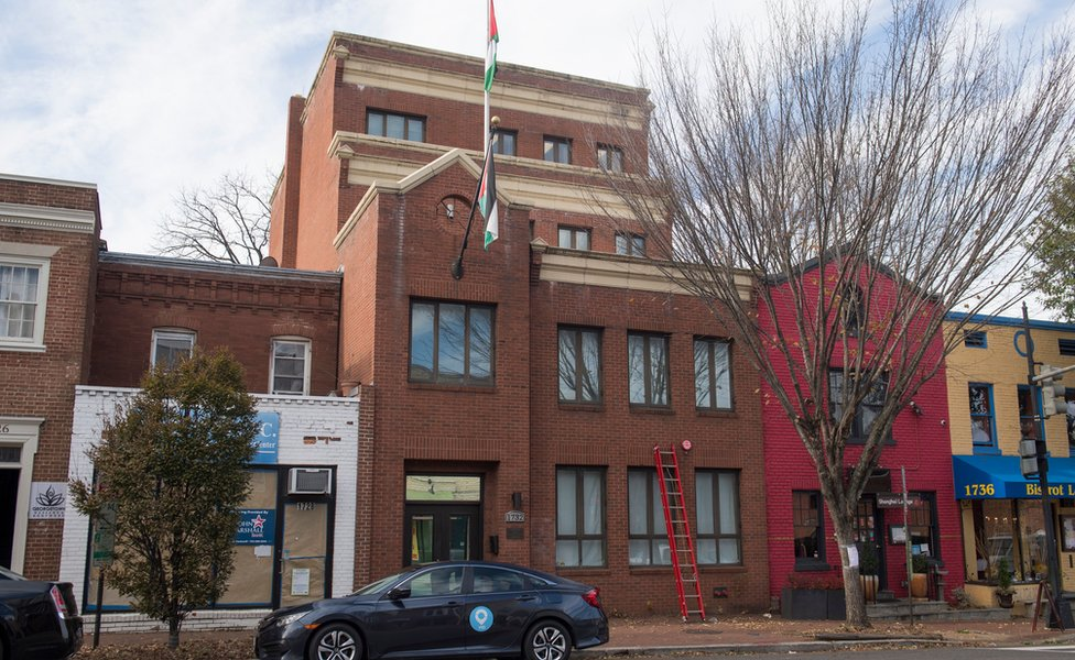 File photo showing Palestine Liberation Organisation (PLO) office in Washington (21 November 2017)