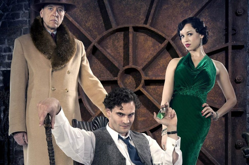 Richard E Grant as Bulstrode, Tom Bateman as Jekyll and Hyde and Natalie Gumede as Bella in new ITV drama Jekyll and Hyde