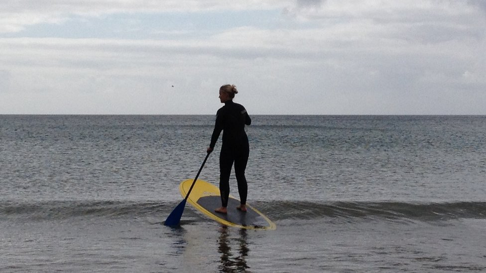 Stand-up paddleboarder