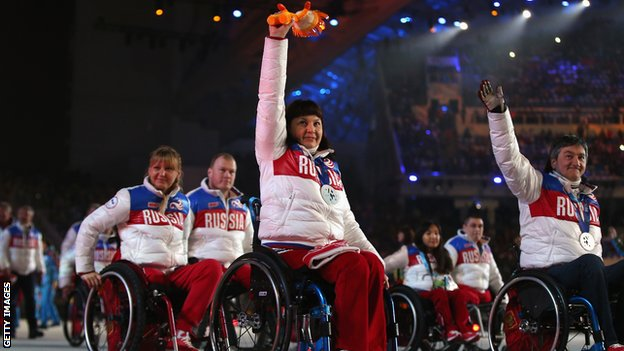 The Russian Sochi 2014 Winter Paralympics team