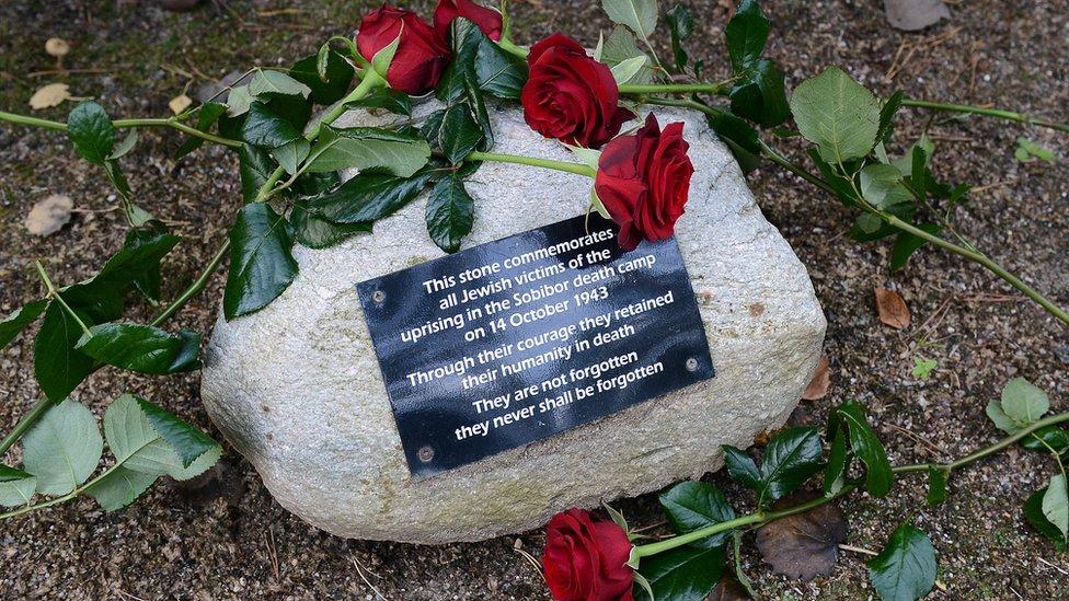 Sobibor plaque, Oct 2013