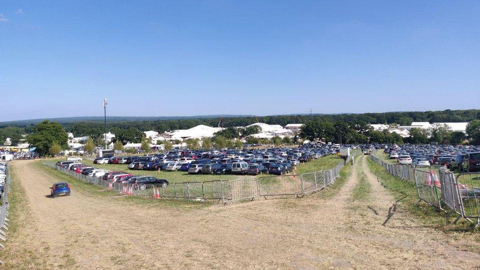 Festival car park area