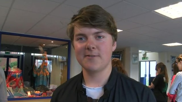 Students at Ysgol Penglais found out how they did in their A-level exams on Thursday