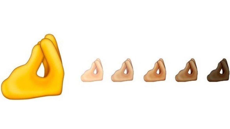 Emoji de los dedos pellizcados