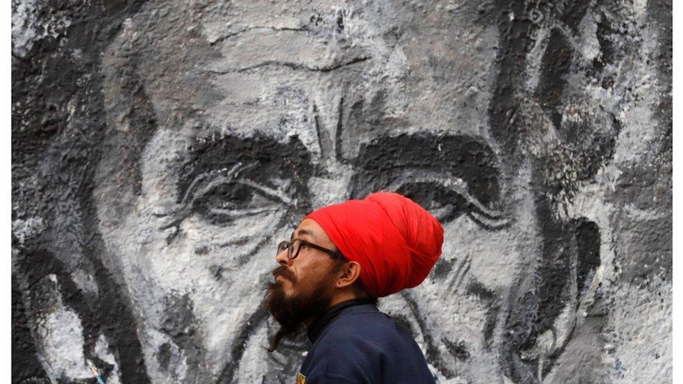 Mural sa likom Hajle Selasija u Kolumbiji