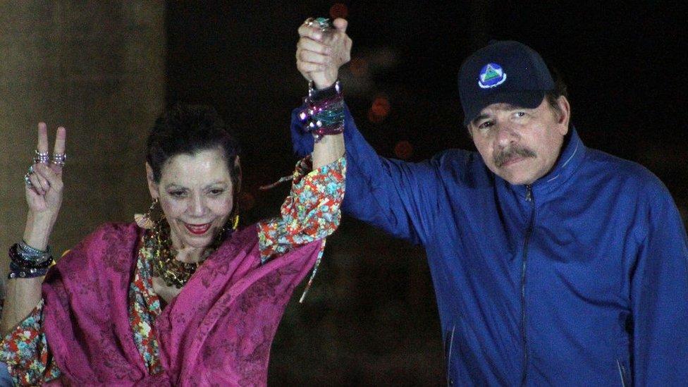 Rosario Murillo y Daniel Ortega.