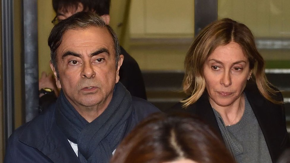 Carlos y Carole Ghosn