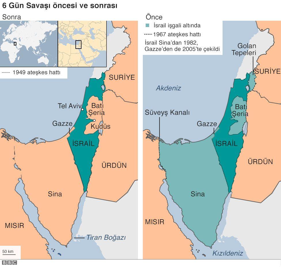 İsrail - Filistin harita