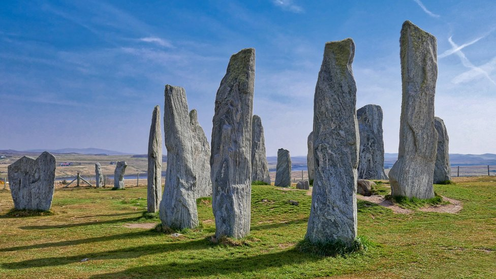 The Callanish stone circle on Isle of Lewis,