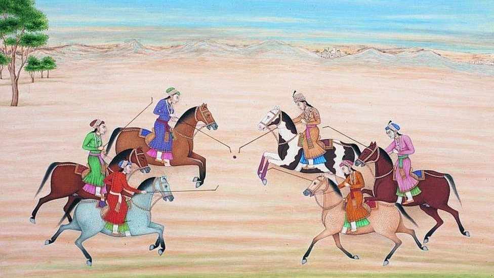 The Mughal Queen Nur Jahan Playing Polo with Other Princesses