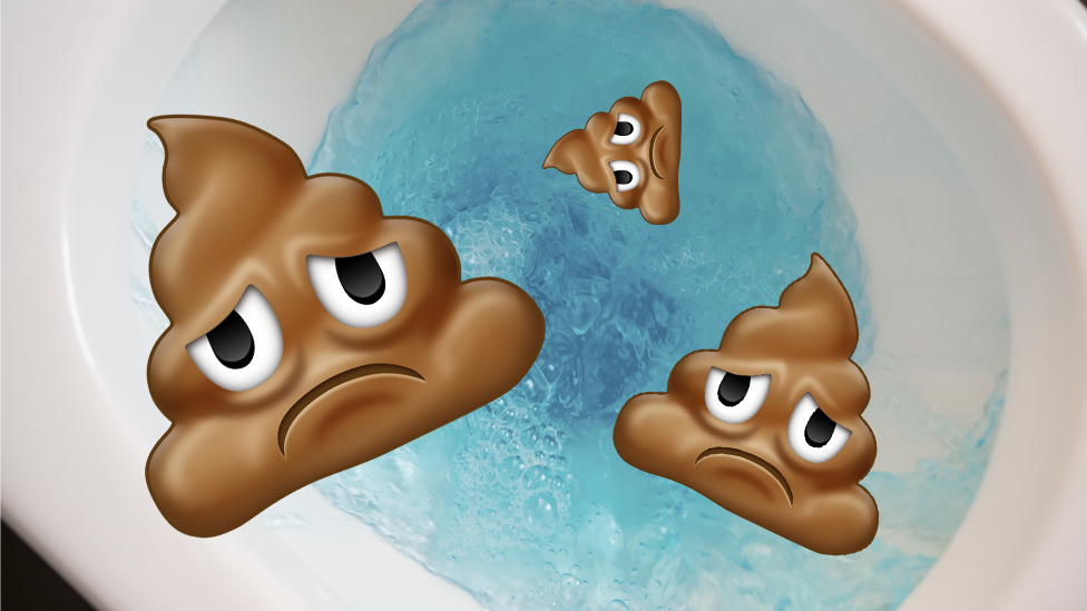 Sad poop emoji gets flushed after row - BBC News