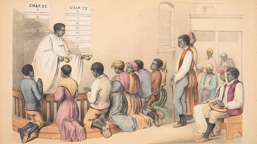 An African Minister Administering the Sacrament
